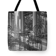 Sidewalk Cafe - Afternoon Shadows Tote Bag by Suzanne Gaff