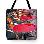 Sidewalk Cafe In Paris Tote Bag