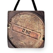 Sidewalk Gas Cover Tote Bag