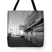 Sidewalks Of Gum In Black And White Tote Bag