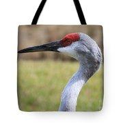Sideways Sandhill Crane Tote Bag