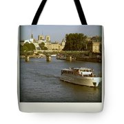 Sightseeings On The River Seine In Paris Tote Bag