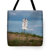 Sign At The Gulf Of Bothnia Tote Bag
