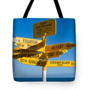 Sign Post In Sterling Point Bluff Tote Bag