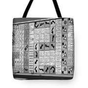 Signs And More Signs Black And White Tote Bag