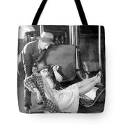Silent Film Still: Accidents Tote Bag