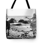 Silent Film Still: Beach Tote Bag