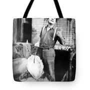 Silent Film Still: Iceman Tote Bag by Granger