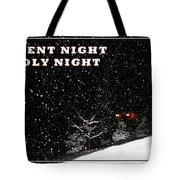 Silent Night Card Tote Bag