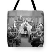 Silent Still: Courtroom Tote Bag