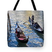 Silently Drifting Gondolas Tote Bag