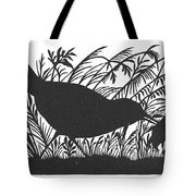 Silhouette: Bird & Insect Tote Bag