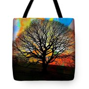 Silhouette In Winter Tote Bag