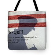 Silhouette Of A Specialist Taking Notes Tote Bag