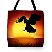 Silhouette Of Eagle Tote Bag