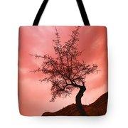 Silhouette Of Shrub Tree Tote Bag