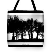 Silhouette Palm Sunset Tote Bag