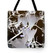 Silhouetted Blossoms Tote Bag