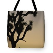 Silhouetted Joshua Tree In Antelope Tote Bag