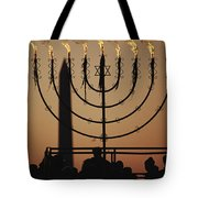 Silhouetted Worshippers Stand Tote Bag