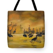 Silhouettes In The Mist Tote Bag