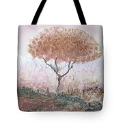 Silk Tree In Brown And Purple  Tote Bag