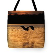 Silouette On The Lake Tote Bag