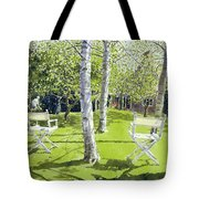 Silver Birches Tote Bag by Lucy Willis