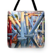 Silver Bullet Over Reflection Lake Tote Bag