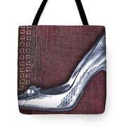 Silver Crocodile Pump Tote Bag