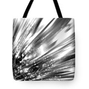 Silver Explosion Tote Bag