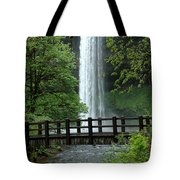 Silver Falls 2 In Oregon Tote Bag