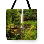 Silver Falls Bridge Tote Bag