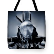 Silver Strikefighter Tote Bag
