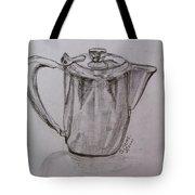 Silver Teapot Tote Bag