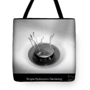 Simple Hydroponic Gardening Tote Bag