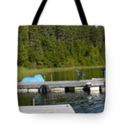 Simple Waterslide On Portage Lake Tote Bag