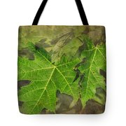 Simply Summer Maple Leaves Tote Bag
