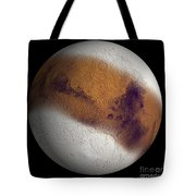 Simulated View Of Mars Tote Bag