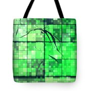 Sinful Geometric Green Tote Bag