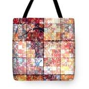 Sinful Geometric Red Tote Bag