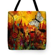 Singing Butterfly Tote Bag