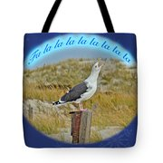 Singing Seagull Christmas Card Tote Bag