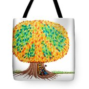Singing Under The Peace Tree Tote Bag