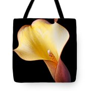 Single Calla Liliy Tote Bag