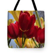 Single Late Red Georgette Tote Bag