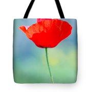Single Poppy Tote Bag