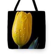 Single Yellow Tulip Tote Bag