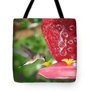 Hummingbird Sipping Tote Bag