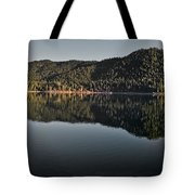 Siskiyou Lake Panorama Tote Bag